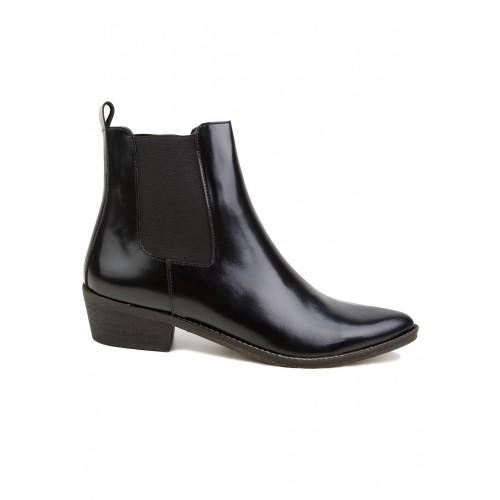 IVYLEE - STELLA - POINTY ANKLE BOOT - SORT GLANS