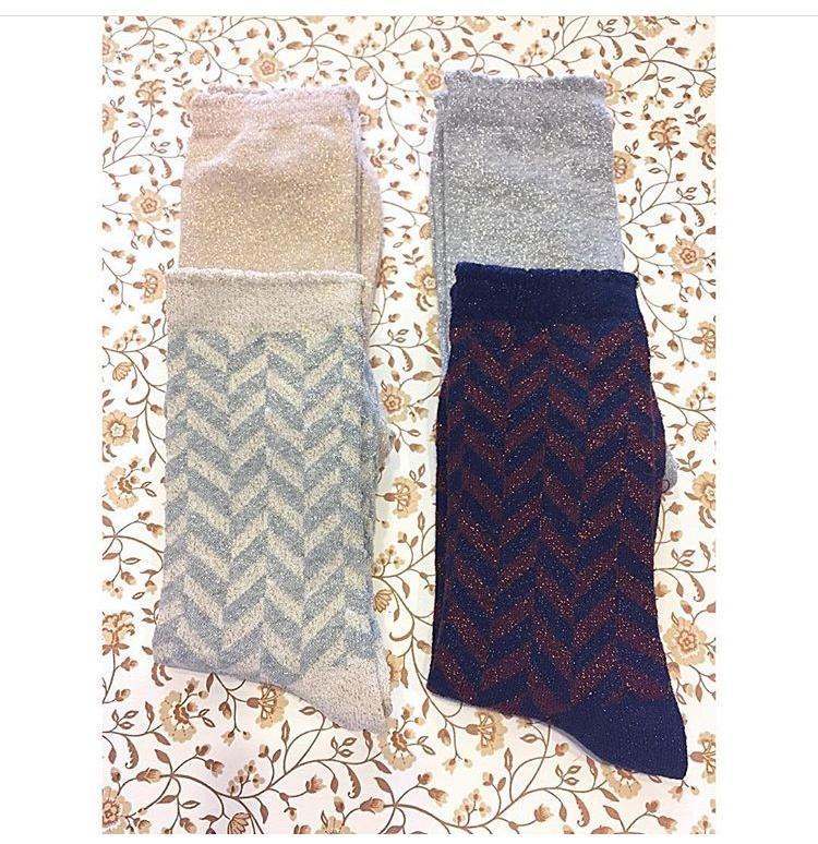 a6e9e5bf Muse - Lurex Socks - Silver